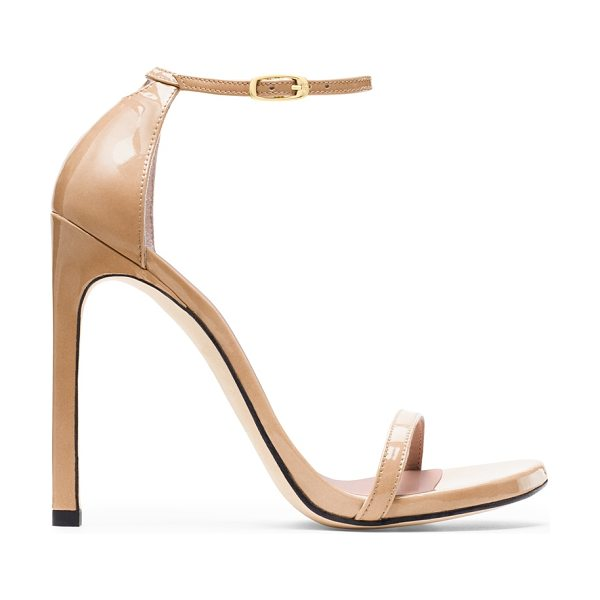 Stuart Weitzman Nudist in adobe patent - These now-iconic stilettos continue to rule the red...