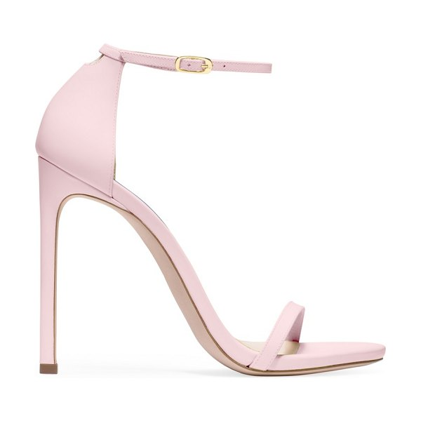 Stuart Weitzman nudist in pink neon leather