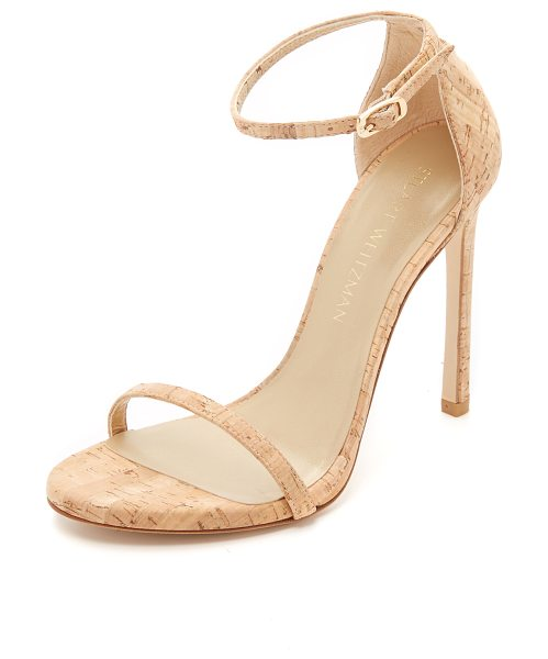 Stuart Weitzman Nudist sandals in natural