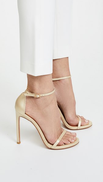 Stuart Weitzman nudist sandals in pale gold