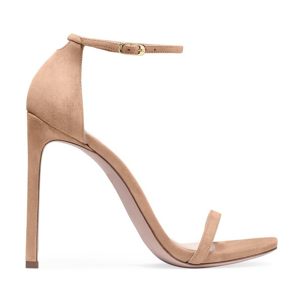Stuart Weitzman nudist in adobe beige suede