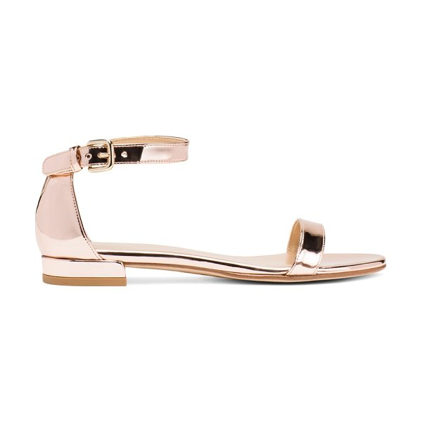 Stuart Weitzman Nudistflat in beige glass - Two words: Flat-out fabulous. Inspired by the NUDIST,...