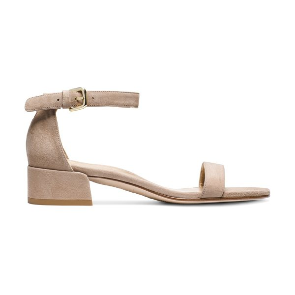 Stuart Weitzman Nudistjune in mojave beige suede - Crafted from sumptuous suede and finished with a subtle...