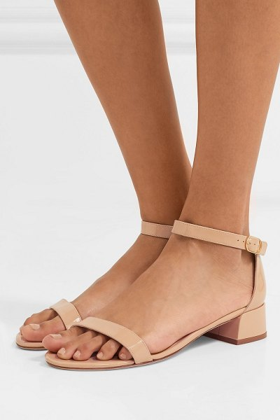Stuart Weitzman nudistjune patent-leather sandals in beige