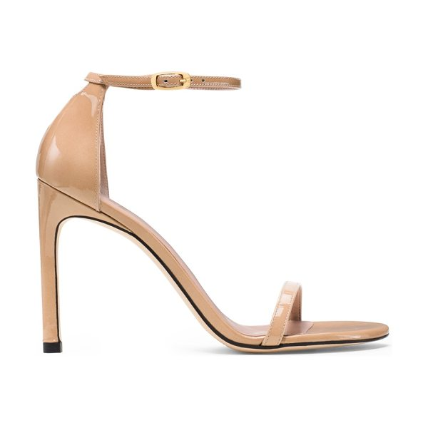 Stuart Weitzman Nudistsong in adobe beige patent - Red carpet go-to. Style icon. The perfect shoe. Our...