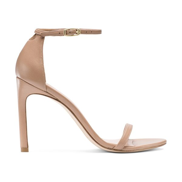 Stuart Weitzman Nudistsong in bambina beige nappa leather - Red carpet go-to. Style icon. The perfect shoe. Our...