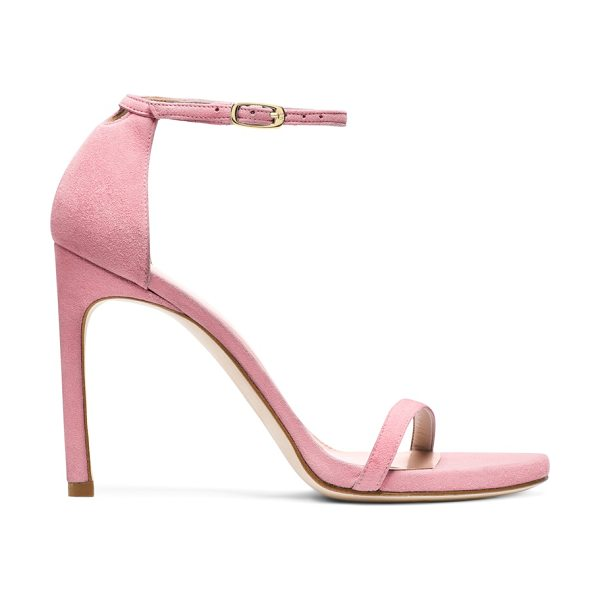 Stuart Weitzman Nudistsong in candy pink suede - Versatility reigns with these minimalist must-own...