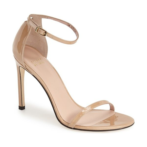 Stuart Weitzman nudistsong ankle strap sandal in adobe aniline