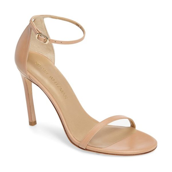 STUART WEITZMAN nudistsong ankle strap sandal - An updated version of the best-selling Nudist sandal,...