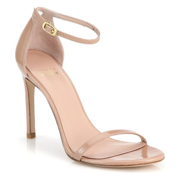 STUART WEITZMAN nudistsong ankle-strap sandals - Sophisticated textile sandals with sleek and slim...