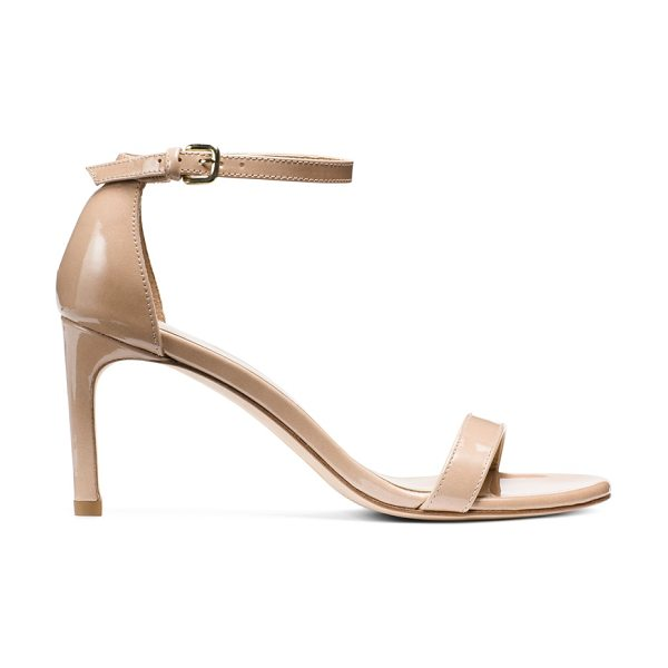 Stuart Weitzman Nunakedstraight in beige patent - Make the switch from stilettos to mid heels: the...