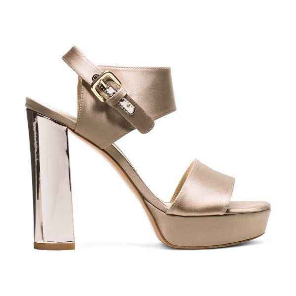 Stuart Weitzman Partisan - Platforms are back in luxe satin, the material of the...