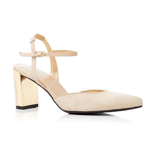 Stuart Weitzman Poetic Suede Pumps in light pink - Stuart Weitzman's 'Poetic' pumps are crafted from supple...