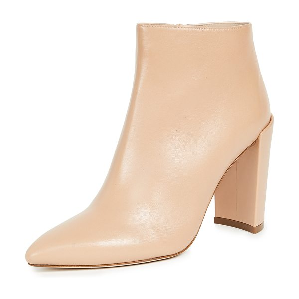 Stuart Weitzman pure booties in bambina - Leather: Lambskin Booties Chunky heel Zip at side Lined...