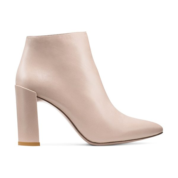 Stuart Weitzman Pure in string beige nappa leather - Crafted from luxe nappa and finished with a slim block...