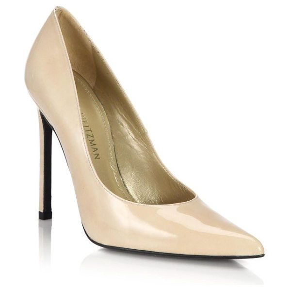 STUART WEITZMAN Queen patent leather pumps - Beautifully crafted in a sleek silhouette with a point...