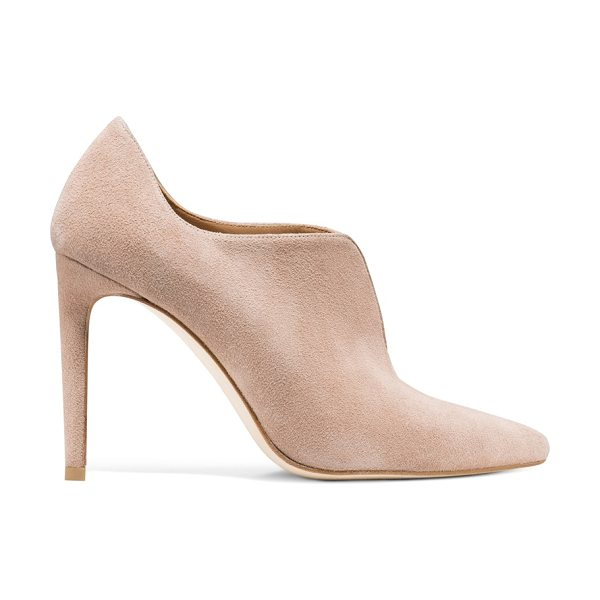 Stuart Weitzman Rhythm in bisque suede - Walk to the beat of your own drum in evening booties...