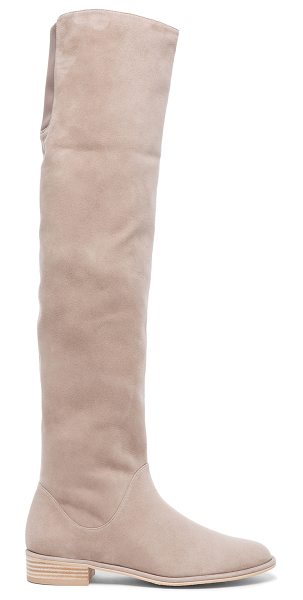 Stuart Weitzman Rockerchic Suede Boots in neutrals - Suede upper with rubber sole.  Made in Spain.  Shaft...