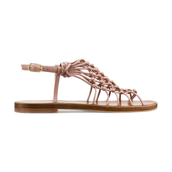 Stuart Weitzman Seaside in toasted blush nappa leather - The Seaside sandals stand out with a unique...