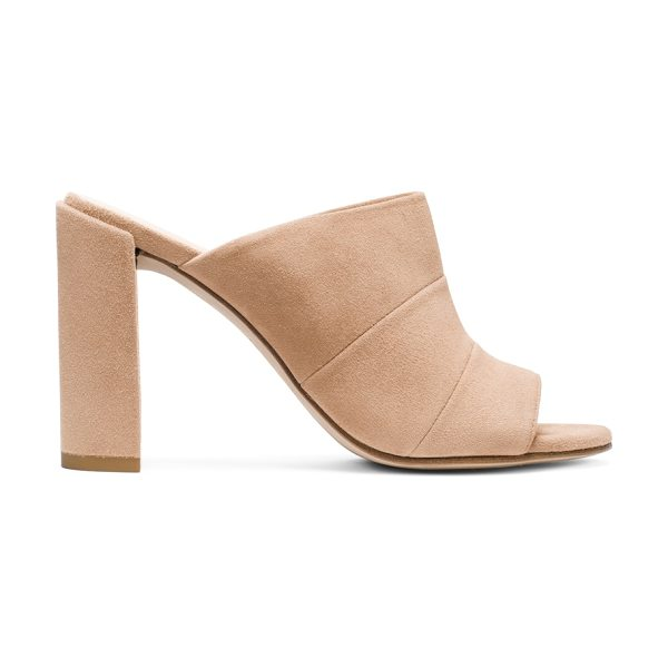Stuart Weitzman Sequel in mojave beige suede - These most-wanted mules (one of the season's must-wear...