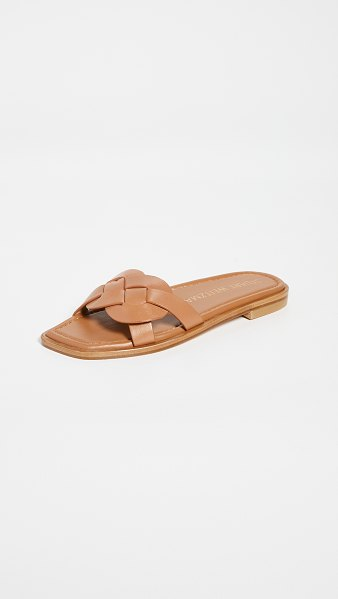 Stuart Weitzman sierra flat sandals in tan