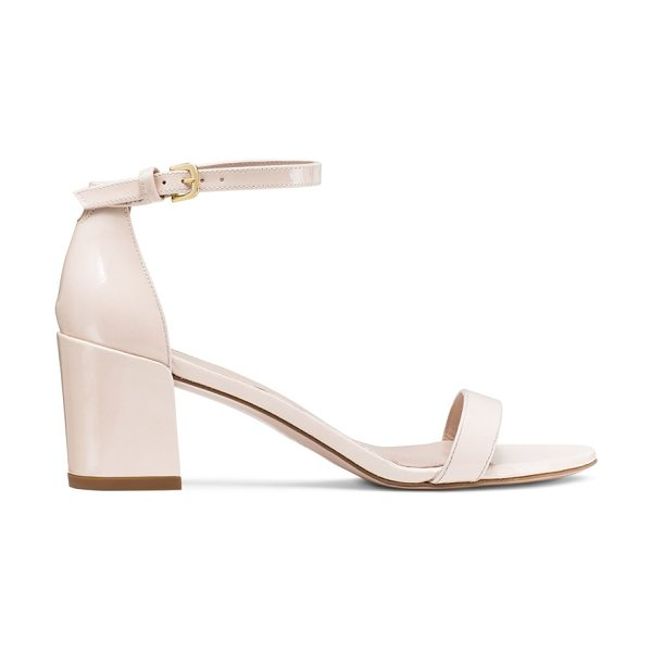 Stuart Weitzman Simple in shell patent - The SIMPLE single-sole sandals make a bold statement...