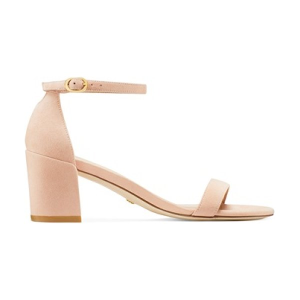 Stuart Weitzman simple in poudre blush pink suede
