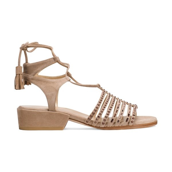 STUART WEITZMAN Skippity in mojave beige suede - Your new fashion obsession. The SKIPPITY sandals,...