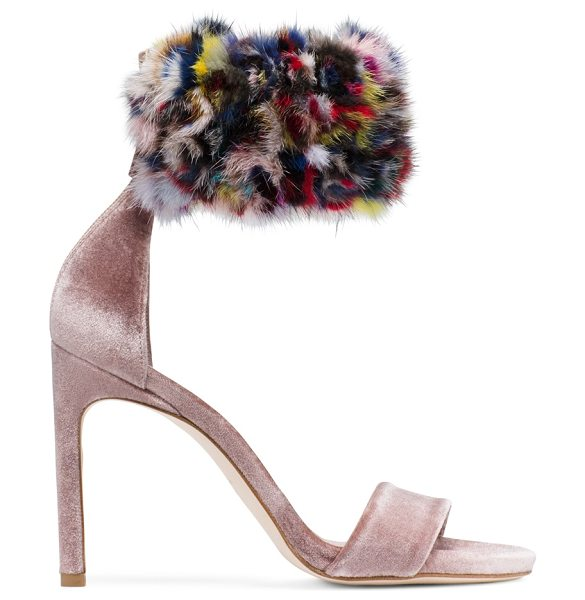 Stuart Weitzman Snowbiz in multi mink - Crafted from ultra-lush velvet and finished with a...