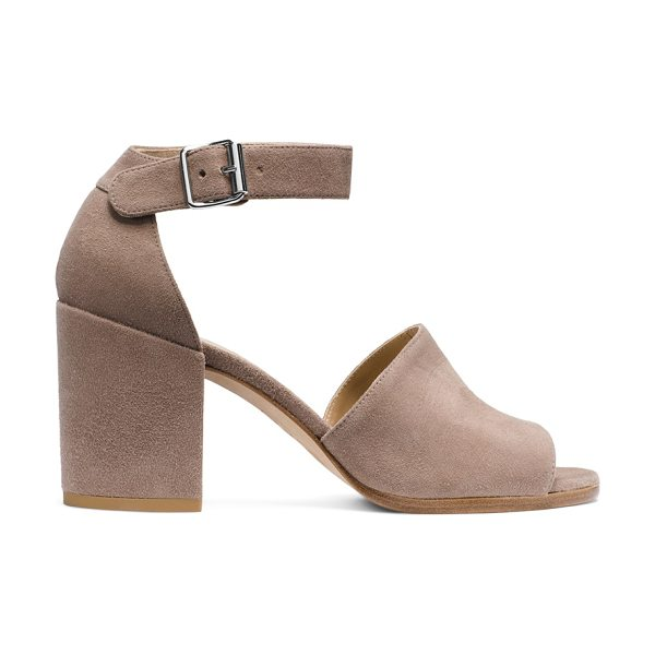 Stuart Weitzman Sohogal in haze beige suede - These effortlessly edgy sandals are a must-have in every...