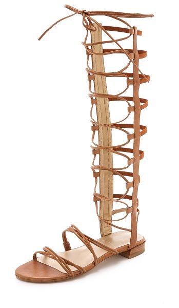Stuart Weitzman Sparta sandals in camel - These Stuart Weitzman gladiator sandals have elastic...