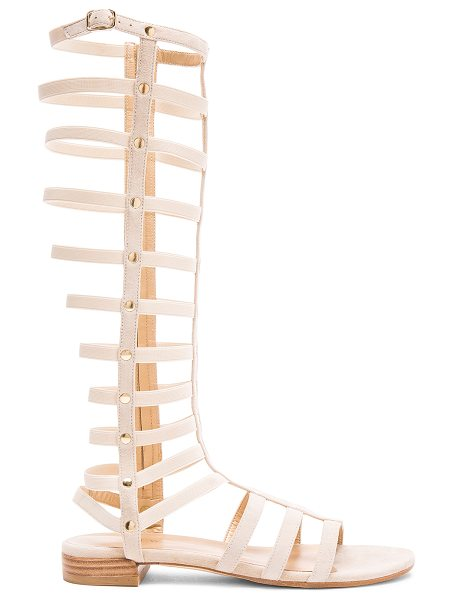 Stuart Weitzman Suede Gladiator Sandals in neutrals - Suede upper with leather sole.  Made in Spain.  Shaft...