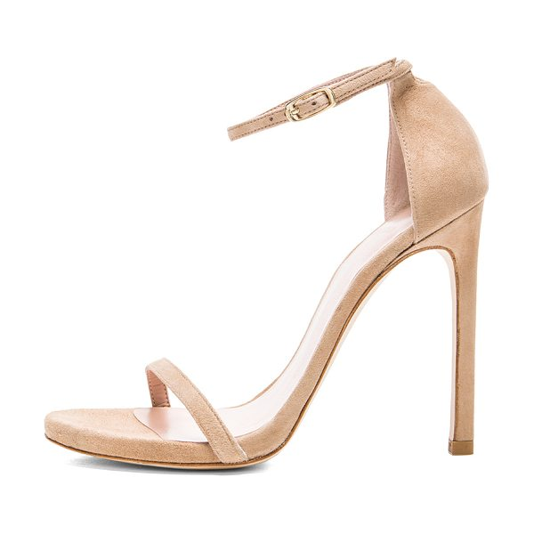 STUART WEITZMAN Suede nudist heels - Suede upper with leather sole.  Made in Spain.  Approx...