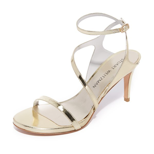 STUART WEITZMAN sultry mid sandals - These strappy Stuart Weitzman sandals make a glamorous...