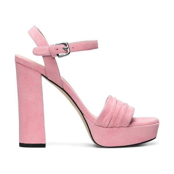 Stuart Weitzman Sunblock in candy pink suede - Perfect proportions set these punchy platforms apart...
