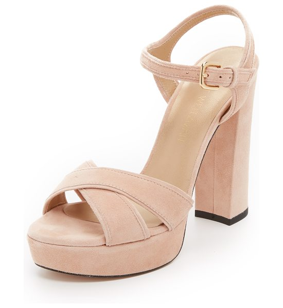 Stuart Weitzman Sunlover sandals in bisque - Luxe suede Stuart Weitzman sandals styled with a...