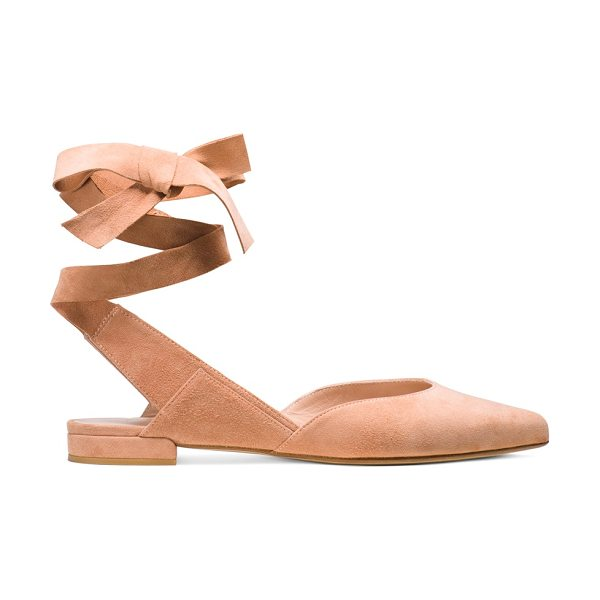 Stuart Weitzman Supersonic in naked pink beige suede - Set the style barre high in these showstopping ballerina...