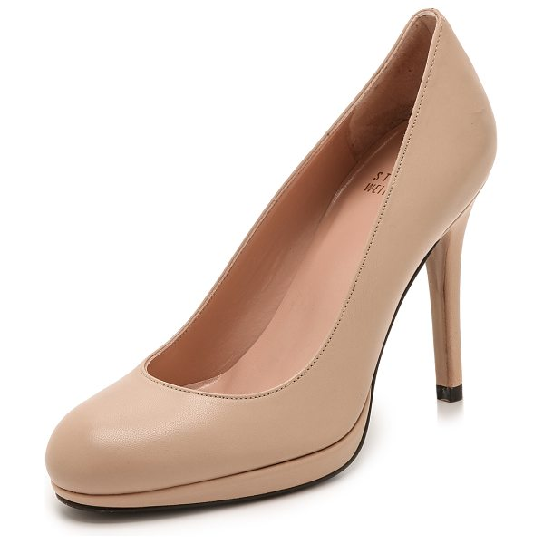 STUART WEITZMAN swoon 90mm leather pumps in adobe - Ladylike Stuart Weitzman pumps, cut from matte leather...
