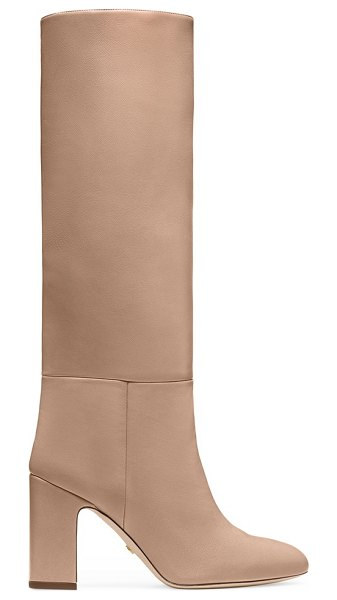 Stuart Weitzman talina in adobe beige nappa leather