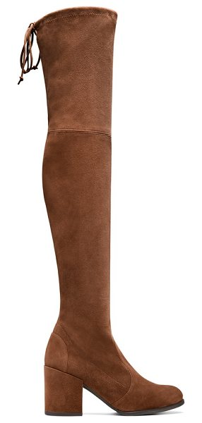 Stuart Weitzman Tieland in walnut suede - The iconic over-the-knee TIELAND boots are designed for...
