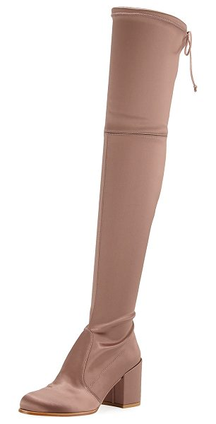 Stuart Weitzman Tieland Satin Over-the-Knee Boot in old rose - EXCLUSIVELY AT NEIMAN MARCUS Stuart Weitzman satin...