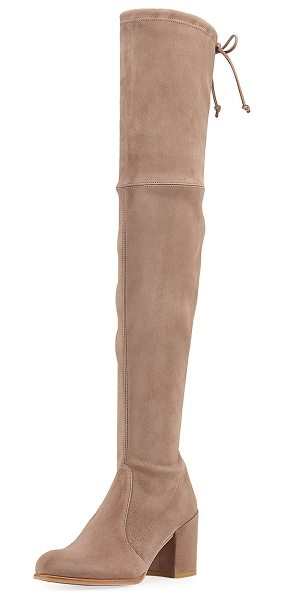 Stuart Weitzman Tieland Suede Over-the-Knee Boot in haze - Stuart Weitzman suede over-the-knee boot. Available in...