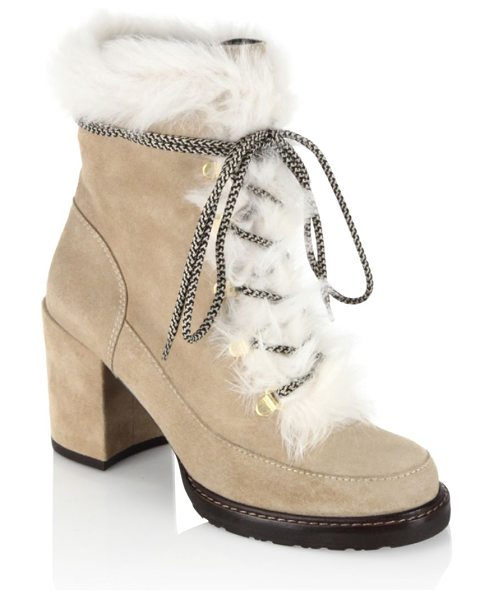 Stuart Weitzman yukon suede booties in light brown