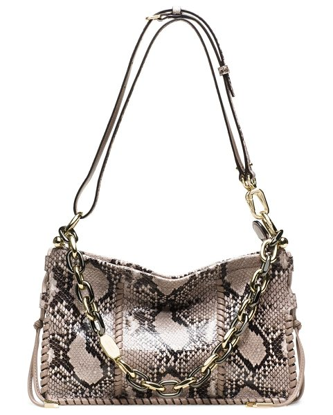 Stuart Weitzman Zoey in natural genuine python - Introducing the ZOEY, a chic, compact shoulder bag...