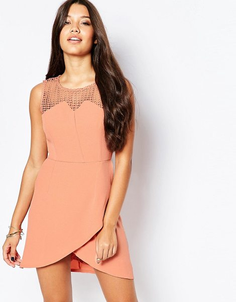 Style London Dress With Aysemmetric Hem in pink - Evening dress by Style London, Lightweight, lined crepe,...