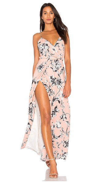 Style Stalker Iris Maxi Dress in peach - Self: 97% poly 3% elastaneLining: 100% poly. Hand wash...