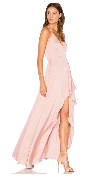 Style Stalker Avianna Maxi Dress in dusty pink - Self: 100% polyLining: 97% poly 3% elastane. Hand wash...