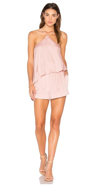 Style Stalker Avianna Romper in dusty pink - Self: 100% polyLining: 97% poly 3% elastane. Hand wash...