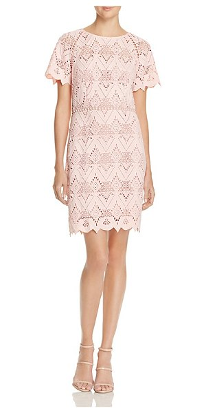 Style Stalker Elora Geometric Lace Dress in salmon - Stylestalker Elora Geometric Lace Dress-Women