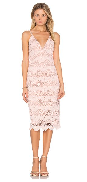 Style Stalker Flora Midi Dress in pink - Self: Cotton blendLining: Poly blend. Hand wash cold....